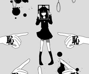 sad, anime, and black image