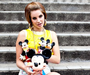 lana del rey and mickey mouse image