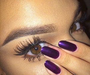 eyes, lashes, and girl image