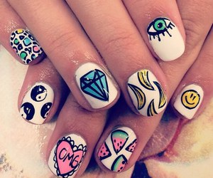 nails, banana, and diamond image