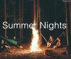 summer, fire, and night image