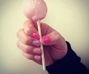 nail art, nail polish, and pink nails image