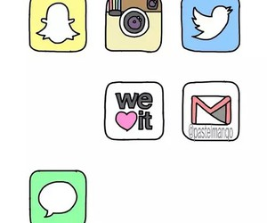 twitter, instagram, and snapchat image