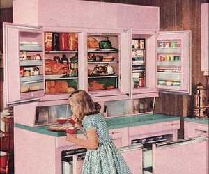 girl, pink, and vintage image