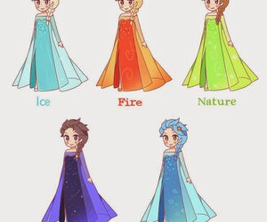 frozen, fire, and ice image