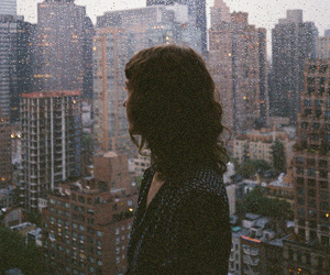 girl, city, and vintage image