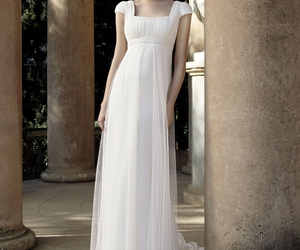 bridal, dress, and empire waist image