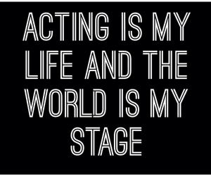 act, acting, and food image