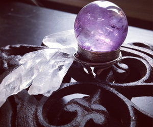crystal, amethyst, and crystal ball image