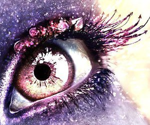 eye, purple, and shine image