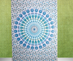 wall hanging, indian bedspread, and hippie tapestry image