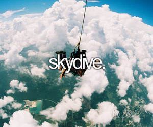 skydive, before i die, and sky image
