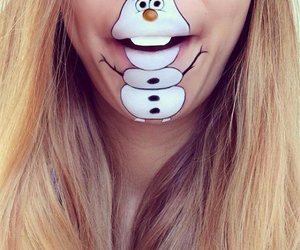 frozen, olaf, and lips image