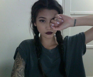 girl, grunge, and tattoo image