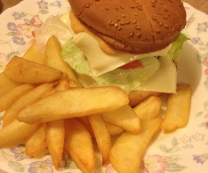 burgers, yummy, and frites image