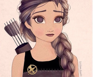 katniss, hunger games, and drawing image