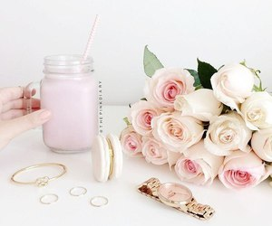 pink, flowers, and girly image