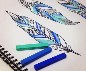 blue, colours, and drawing image