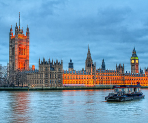 architecture, barge, and Big Ben image