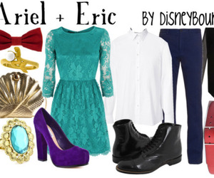 ariel, eric, and outfit image