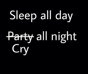 cry, sleep, and party image