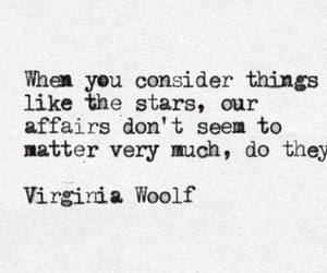 quote, stars, and virginia woolf image