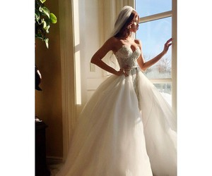 dress and wedding image