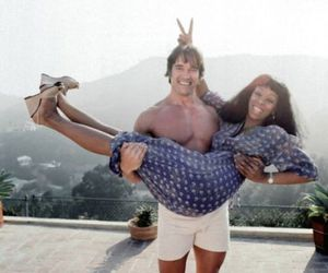 donna summer and Arnold Schwarzenegger image