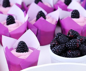 food, cupcake, and blackberry image