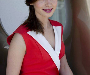 actress, in red, and beautiful image