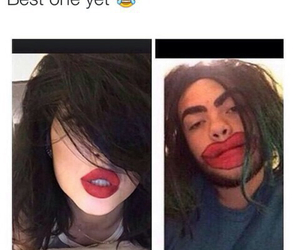 funny, kylie jenner, and lips image