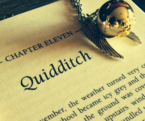 book, fandom, and golden snitch image