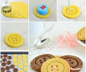 diy, buttons, and food image