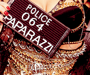 paparazzi, Lady gaga, and police image