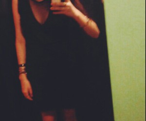 black dress, black is the new black, and night image