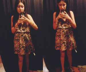 flowers, outfit, and little dress image