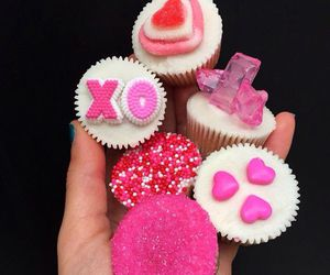 cupcakes, mini, and pink image