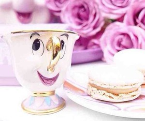 disney, pink, and beauty and the beast image