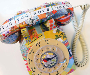 telephone, vintage, and wish you were here image