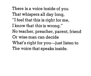 quotes, voice, and poem image