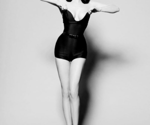 Dita von Teese, vintage, and black and white image