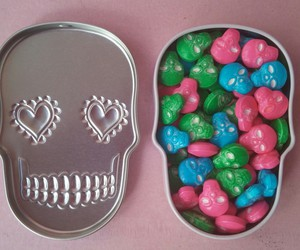 candies, candy, and skull image