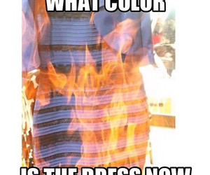 color, dress, and fire image