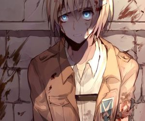 anime, aot, and blond hair image