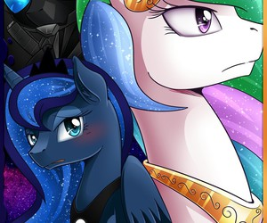 MLP, princess celestia, and princess luna image