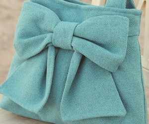 bow, purse, and turquoise image