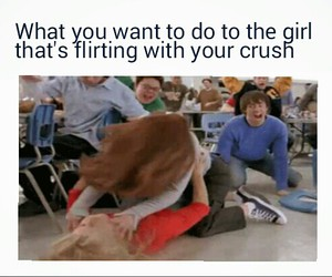 crush, fight, and flirting image