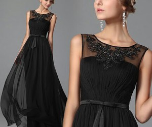 black, fashion, and gown image
