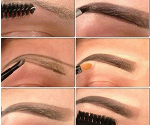 makeup, eyebrows, and tutorial image