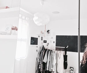 bedroom, clothing, and decoration image